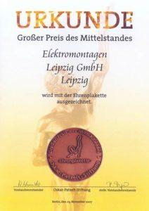 Wettbewerb_Grosser_Preis_des_Mittelstandes 2007 Ehrenplakette