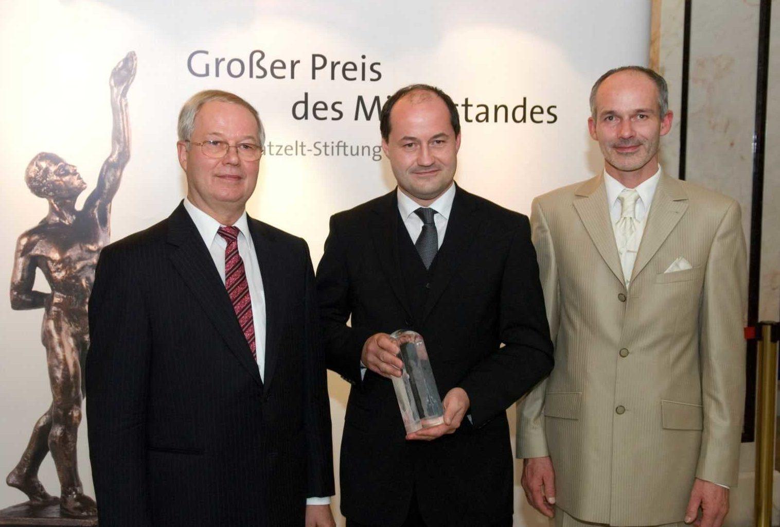 Großer Preis des Mittelstandes Bundespreisträger 2008 - Elektromontagen Leipzig GmbH